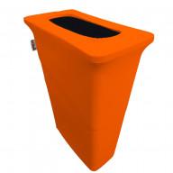 LA Linen Stretch Spandex Trash Can cover for Slim Jim 23-Gallon, Orange
