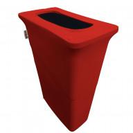 LA Linen Stretch Spandex Trash Can cover for Slim Jim 23-Gallon, Red