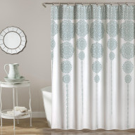 Stripe Medallion Shower Curtain Blue 72x72