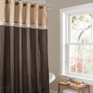 Terra Beige/Brown Shower Curtain 72x72