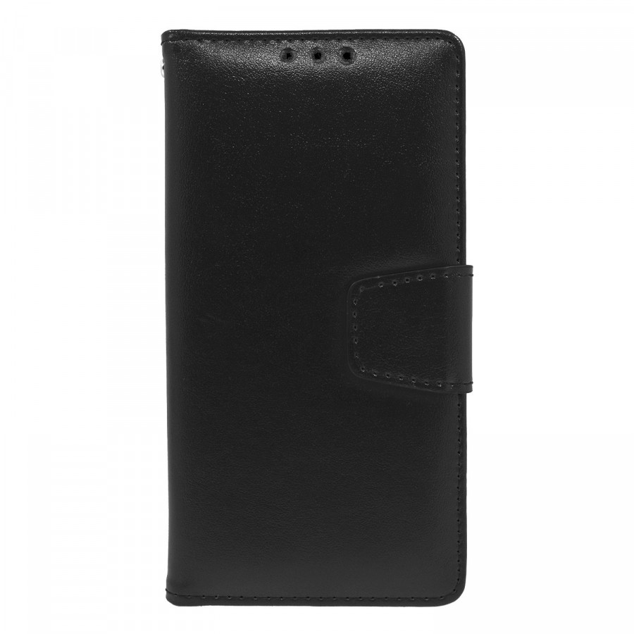 Samsung Galaxy S8 Folio Leather Wallet Pouch Case Cover Black