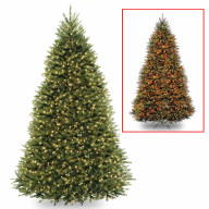 9' Dunhill Fir Hinged Tree with 900 Low Voltage Dual LED Lights with 9 Function Footswitch