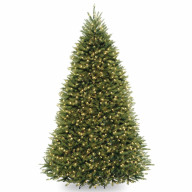 9' Dunhill Fir Hinged Tree with 900 Clear Lights