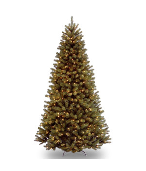 9' North Valley Spruce Hinged Tree with 700 Clear Lights