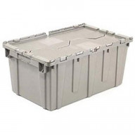 Premium Heavy-Duty Attached Lid Containers - Grey