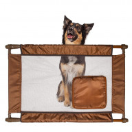 Pet Life Porta-Gate Travel Collapsible And Adjustable Folding Pet Cat Dog Gate - One Size - Brown