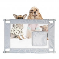 Pet Life Porta-Gate Travel Collapsible And Adjustable Folding Pet Cat Dog Gate - One Size - Grey