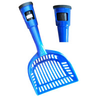 Pet Life Poopin-Scoopin Dog And Cat Pooper Scooper Litter Shovel With Built-In Waste Bag Handle Holster - One Size - Blue