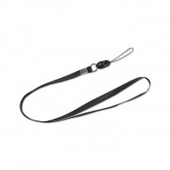 REIKO LONG LANYARD STRAP CLIP IN BLACK