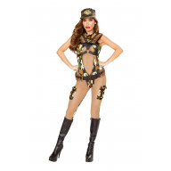 1pc Sassy Army - 4818-AS-L - Brown/Camouflage