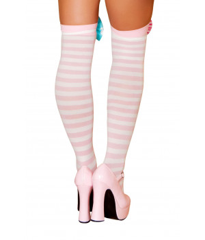 Clown Stocking Bows - ST4421-AS-O/S - Pink/Blue