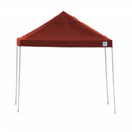 12x12 Straight Leg Pop-up Canopy, Red Cover, Black Roller Bag