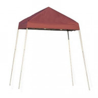8x8 Slant Leg Pop-up Canopy, Red Cover, Carry Bag
