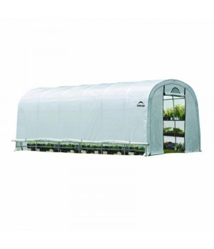 4x4x1'11'' Round Raised Bed Greenhouse with Fully Closable Cover