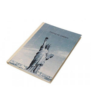 Store Indya, Personal Journal Organizer Planner Notebook Travel Book Diary with Unruled Handmade Pages (Statue Of Liberty)