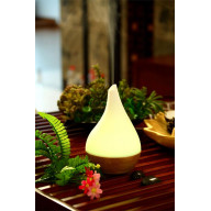 Ultrasonic Aroma Diffuser/Humidifier with Bamboo Base (Droplet)