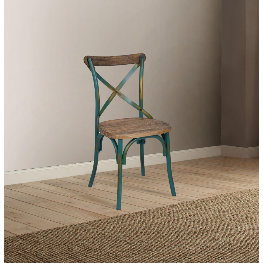 Buy Zaire Side Chair 1pc Antique Turquoise Amp Antique