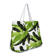 Astella Large Size Tote Heavy Duty Beach Bag / Shoulder Bag with Cotton Rope Handles, Soft Foldable Material