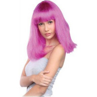 Pageboy II Wig, Pink- One Size Fits Most/ PINK