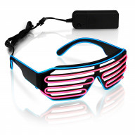 Ultra Electro Luminescent Sunglasses Blue and Pink