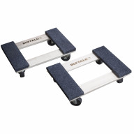 1000 Lbs Compact 18 inch Furniture Dolly - 2 Pack