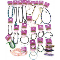 TREND OF NY 24 PIECE ASSORTED GIRLS JEWELRY AND ACCESSORIES WITH COUNTER DISPLAY