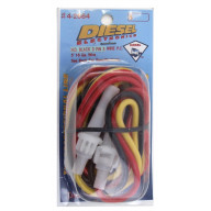 HEAVY DUTY 16 GAUGE 5 FOOT 3 WIRE 5 AMP DOUBLE FUSED 3 PIN STANDARD POWER CORD FOR COBRA PLUS SERIES CB RADIOS