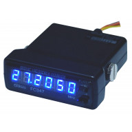 GALAXY - FC347 6 DIGIT FREQUENCY COUNTER WITH BLUE LED READOUT - WIRING HARNESS WITH ACCESSORY PLUG & MOUNTING HARDWARE INCLUDED