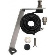 PROCOMM - FORD F150 2015 & UP HOOD/FENDER MOUNT WITH 18 FEET WEATHER RESISTANT COAXIAL CABLE & QUICK ON PL259 CONNECTOR