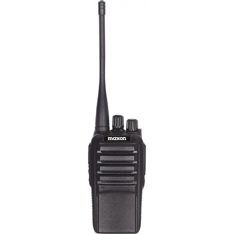 MAXON - SPARTAN 400-470 MHZ VHF 4 WATT 16 CHANNEL PROFESSIONAL HANDHELD RADIO WITH VOX, CTSS/DCS WITH RECHARGEABLE BATTERY & DESKTOP CHARGER