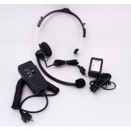 MAXON - MINI VOICE OPERATED PUSH TO TALK ADJUSTABLE BOOM HEADSET FOR GMRS & BUSINESS RADIOS