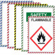 Magnetic Safety Striped Document Frame, Assorted, 6