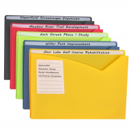 Write-on Poly File Jackets, Assorted, 11 X 8 1/2, 25/BX, 63060