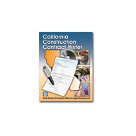 California Construction Contract Writer Book with CD ROM