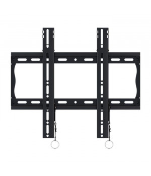 Universal flat wall mount with leveling mechanism, for 37 to 90 flat panel screens