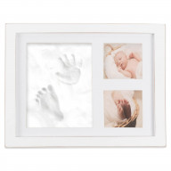 DII Baby Keepsake Frame Distressed White