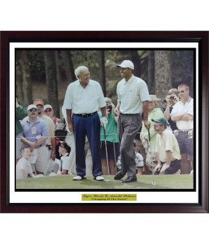 Tiger Woods Arnold Palmer Changing of the Guard Photo