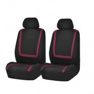 Unique Flat Cloth Bucket Seat Covers - BURGUNDY