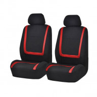 Unique Flat Cloth Bucket Seat Covers - RED