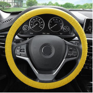 SILICONE STEERING WHEEL COVER - YELLOW