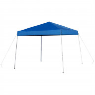 8'x8' Blue Outdoor Pop Up Event Slanted Leg Canopy Tent with Carry Bag