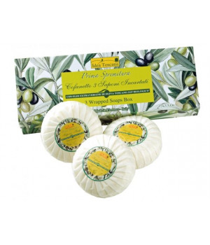 3-Round Wrapped Soaps in Gift Box