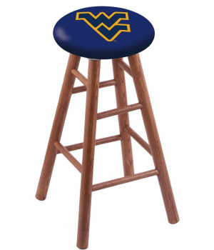Oak Counter Stool in Medium Finish with West Virginia Seat by the Holland Bar Stool Co.