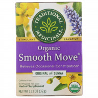 TRADITIONAL MEDICINALS, TEA SMOOTH MOVE LAXATIVE, 16 BG, (Pack of 6)