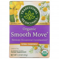 TRADITIONAL MEDICINALS, TEA SMOOTH MOVE CHMMLE, 16 BG, (Pack of 6)