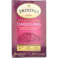 TWINING TEA, TEA DARJEELING, 20 BG, (Pack of 6)