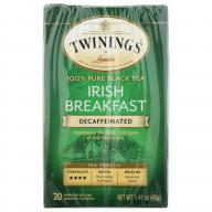 TWINING TEA, TEA DCF IRSH BRKFST, 20 BG, (Pack of 6)