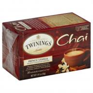 TWINING TEA, TEA CHAI FRNCH VNLA, 20 BG, (Pack of 6)