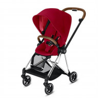 CYBEX Mios 3-in-1 Travel System Chrome with brown details Baby Stroller True Red