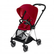 CYBEX Mios 3-in-1 Travel System Chrome with black details Baby Stroller True Red